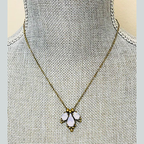 Sorrelli Pink Blush Crystal Trio Necklace