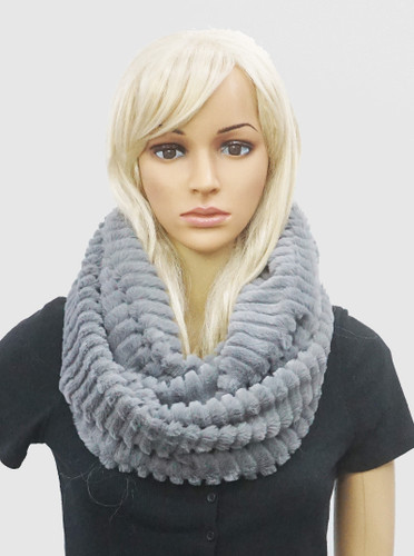 Double Wrap infinity Faux Fur Scarves