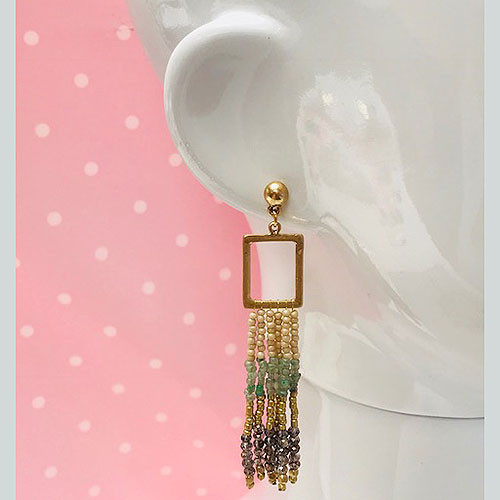 KyKy's Rectangle Dangle with Ombre Beads