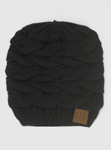 Pony Tail Knit Beanies