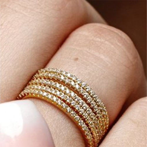 Slender Cubic Zirconia Eternity Band