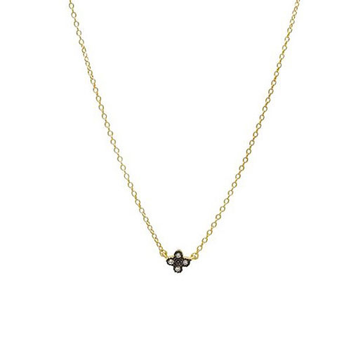 Freida Rothman Mini Clover Necklace