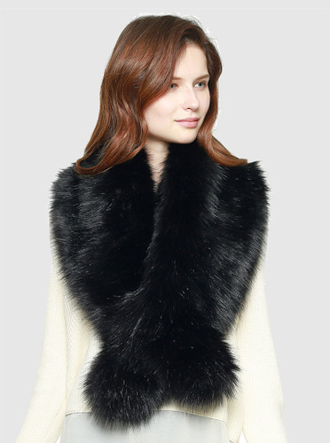 Super Soft Faux Fur Pull Collar Scarves
