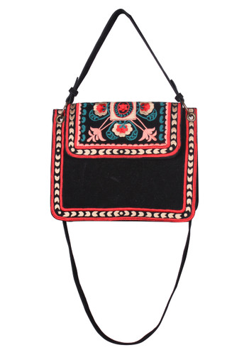 Thai Embroidered Small Messenger Handbag
