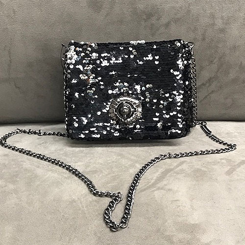 "Sondra Roberts Reversible Sequin ""Never Too Much"" Bag"