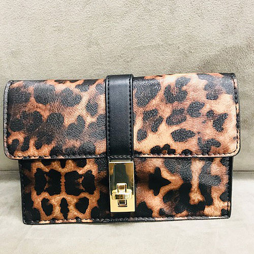 Sondra Roberts Embossed Leopard Cross Body/ Clutch