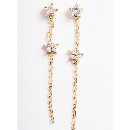 Dainty Stargazer Gold Earrings