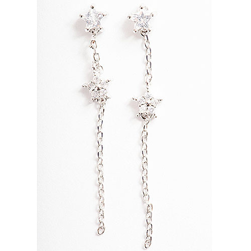 Dainty Stargazer Sterling Silver Earrings