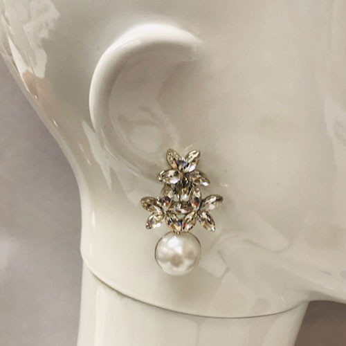 Flowers & Cream Pearl Drop Silver
