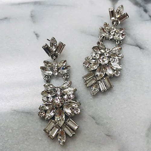 Crystal Marquise Cut Crystal Chandelier Earring