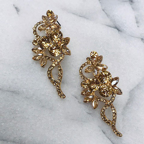 The Madison Elegant Earring in Light Gold