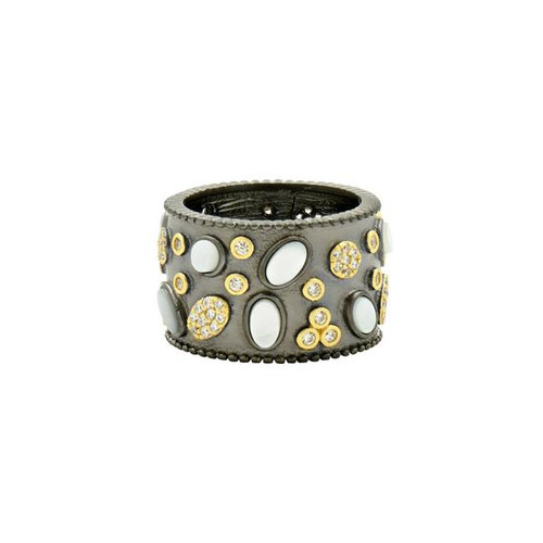 Freida Rothman Imperial Multi-stone Wide Band Ring