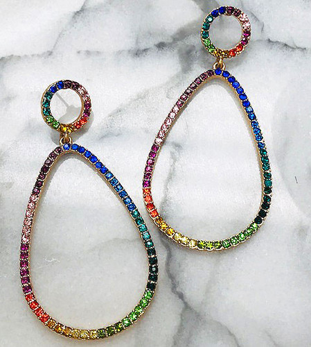 Multi-colored Open Teardrop Earring