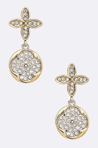 Two Tone Iconic Clover Earring