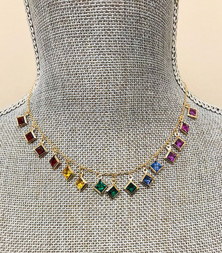 Dangling Mixed Colors Rainbow Fringe Chain