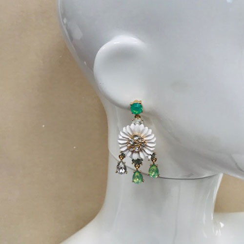 Retro Heirloom Flower Dangle Earring