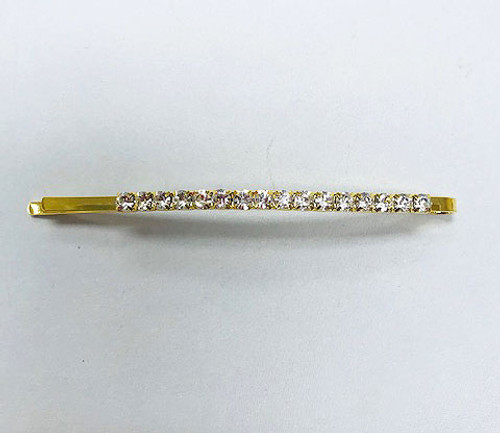 Set of Four Crystal Pave Golden Bobby Pins