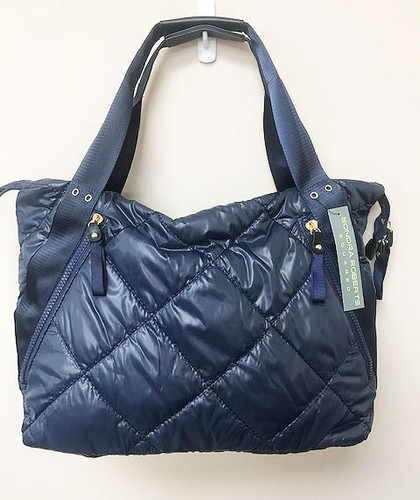 Sondra Roberts Quilted Nylon Puffer Tote