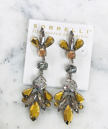 Sorrelli Metallic Crystal Statement Earring
