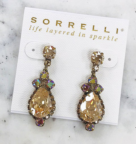 Sorrelli Iridescent Neutral Glow Teardrop Earring