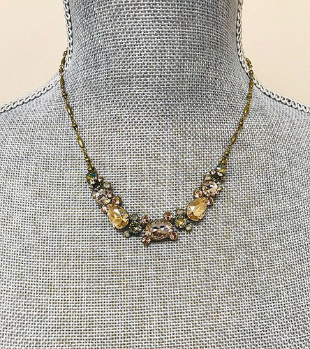 Sorrelli's Golden Beach Crystal Necklace
