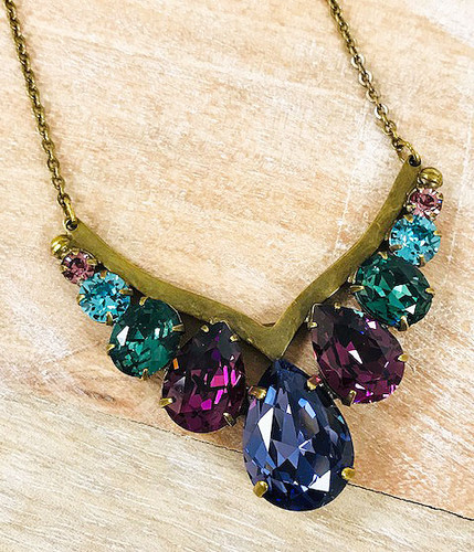 Sorrelli Jewel Tone Crystal Statement Necklace