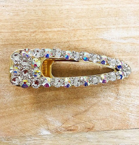 Aurora Borealis Crystal Alligator Clips