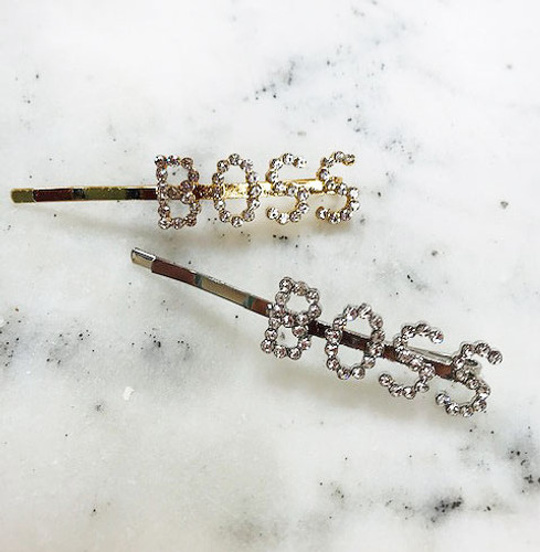 "Crystal ""BOSS"" Bobby Hair Pin"