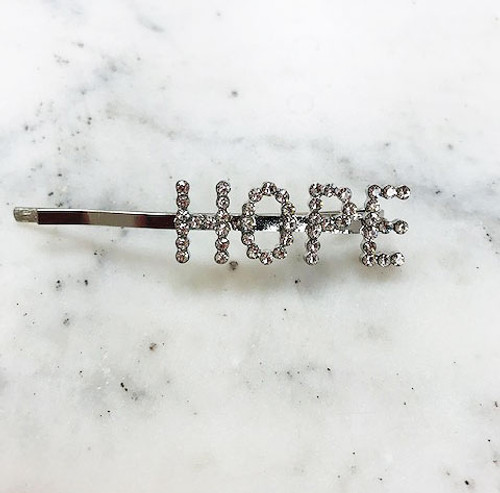 "Crystal ""HOPE"" Bobby Hair Pin"