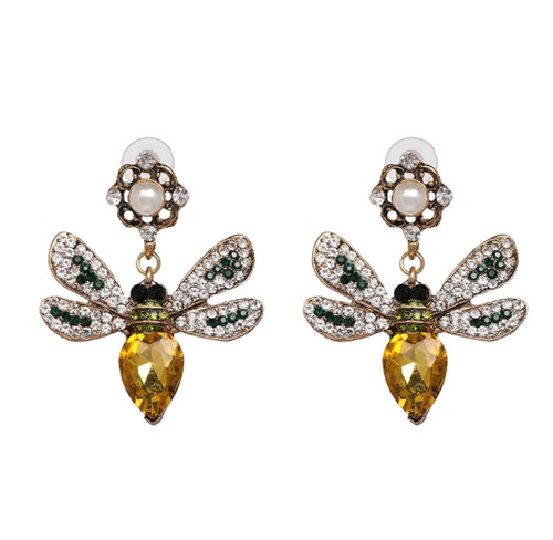 Bee-lovely Crystal Earrings