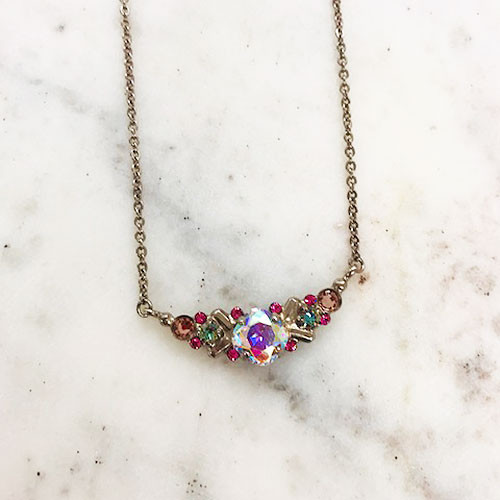 Sorrelli Aurora Borealis Simple Crystal Necklace