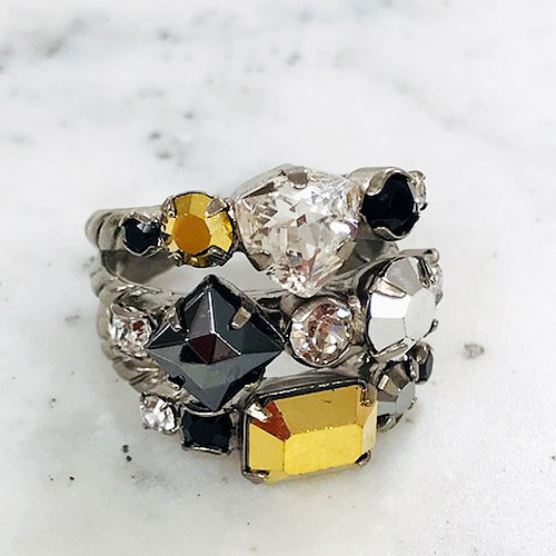 Sorrelli Heavy Metal Triple Band Ring