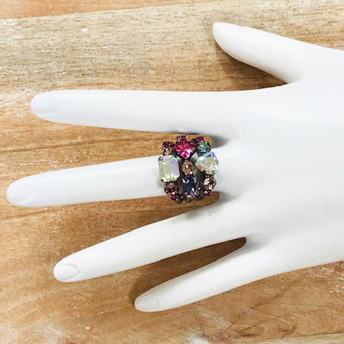 Sorrelli Stargazer Triple Band Crystal Ring