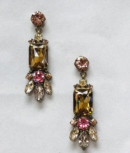 Sorrelli Light Colorado & Pink Crystal Sunset Earring