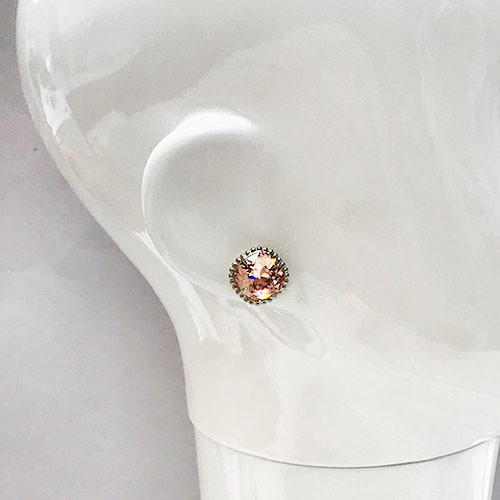 Sorrelli Cushion-cut Vintage Rose Stud Earring