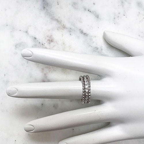 Set of Three Sterling Silver Dainty Rings