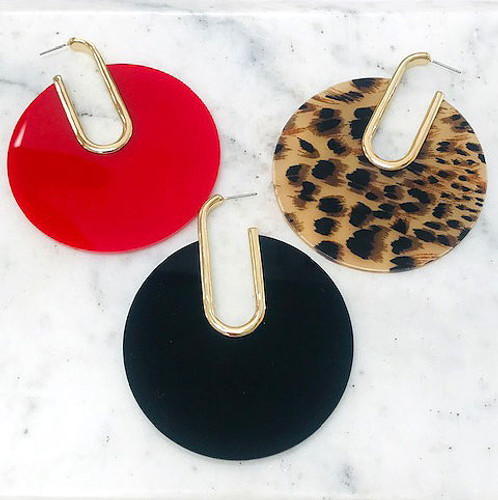 Large Statement Disk Earrings