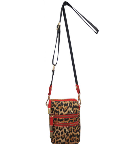 Sondra Roberts Leopard Crossbody Phone Case