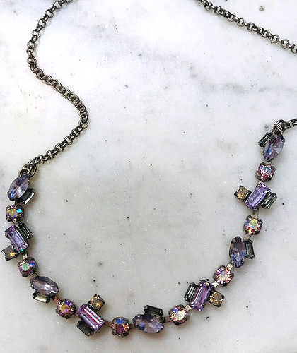 Sorrel Lilac Emerald & Marquis Cut Crystal Choker Necklace
