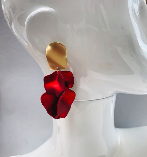Red Petals Earrings