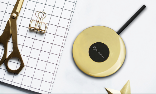 Gold Metallic Wireless Charging Pad