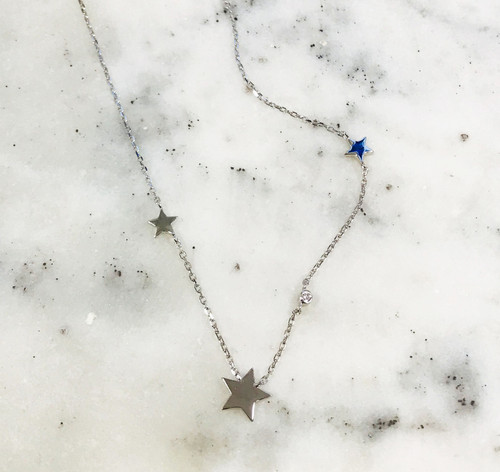 Sterling Silver Star Chain Necklace
