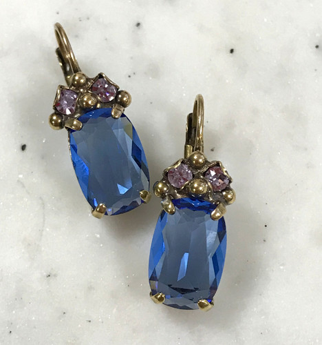Sorrelli Wildflower Blue Euro Wire Earring