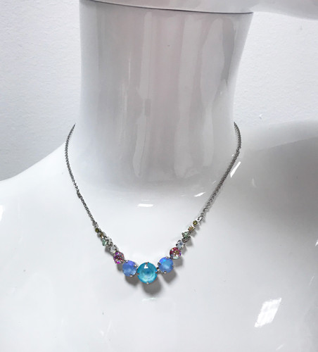 Sorrelli Seersucker Pastel Crystal Necklace