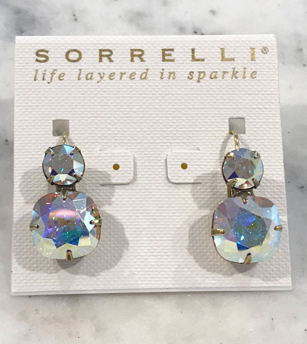 Sorrelli Aurora Borealis Crystal Double Bubble French Wires