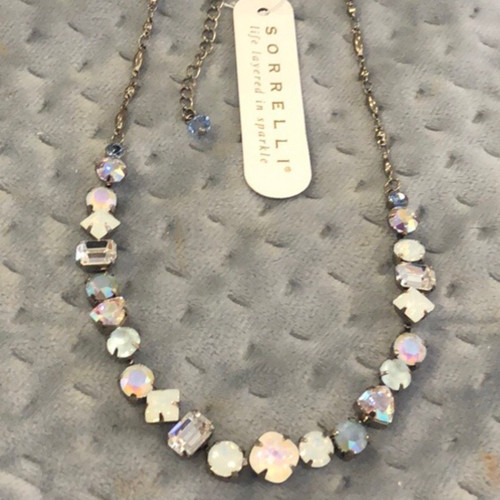 Sorrelli Icy White Opal Crystal Necklace