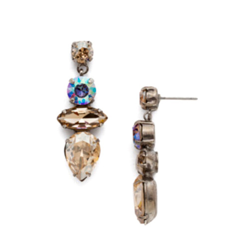 Sorrelli Soft Neutral Crystal Drop Earrings