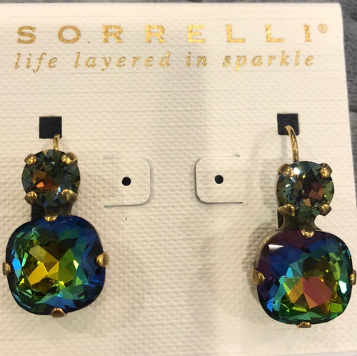 Sorrelli Double Volcano Crystal French Wire Earring
