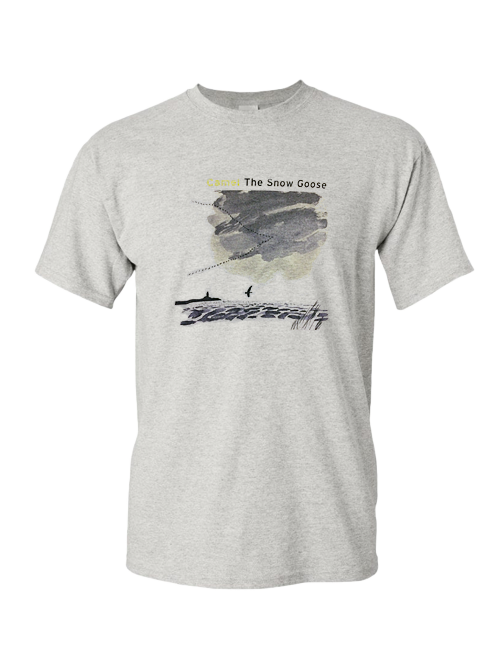 Snow Goose t-shirt with the specially re-designed CD cover art.