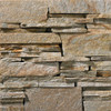 Ledge Shimmering Gold Stacked natural thin stone